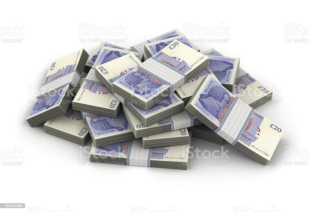 Stack of Pound stock photo