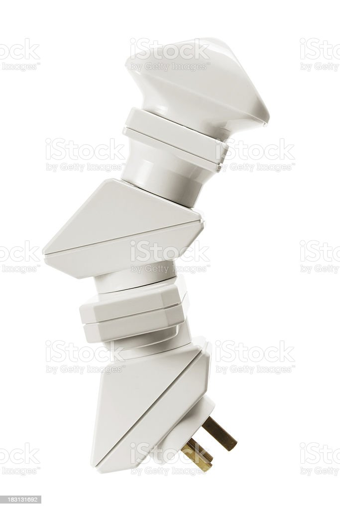 Stack of Power Adaptors royalty-free stock photo
