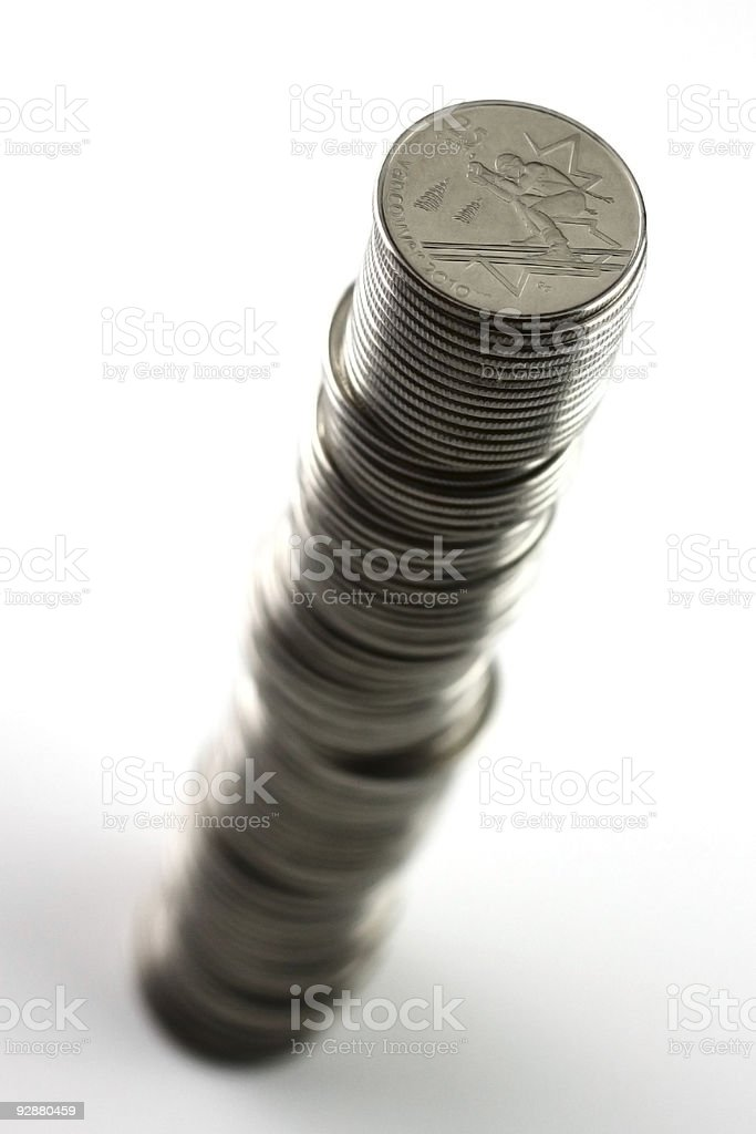 Stack of Quarters royalty-free stock photo
