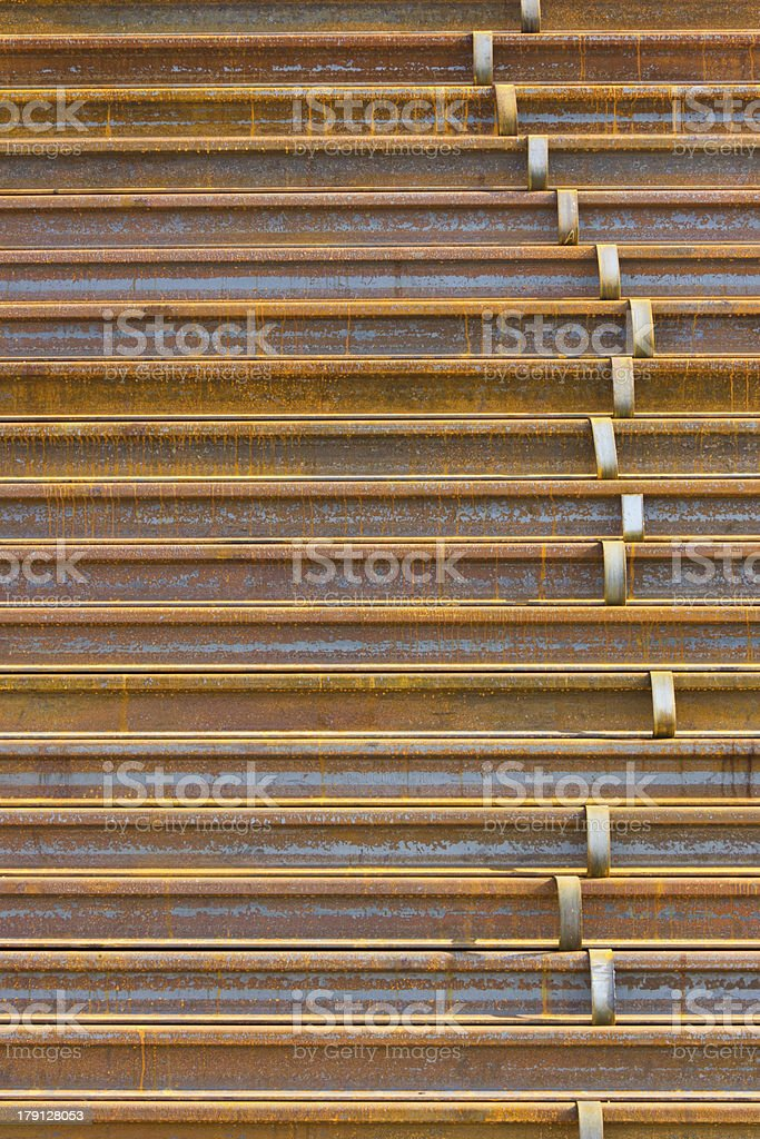 stack of railway royalty-free stock photo