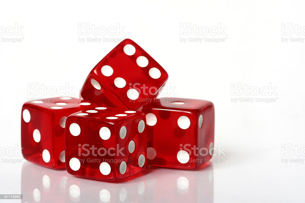 Stack of red dice royalty-free stock photo