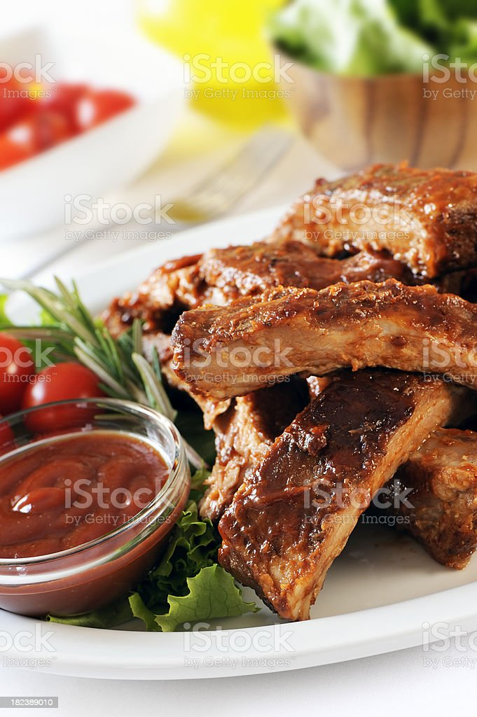 Stack of ribs royalty-free stock photo
