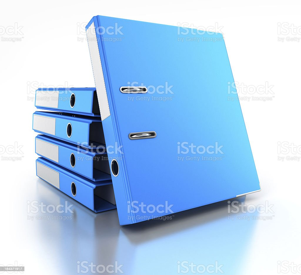 Stack of Ring binders royalty-free stock photo