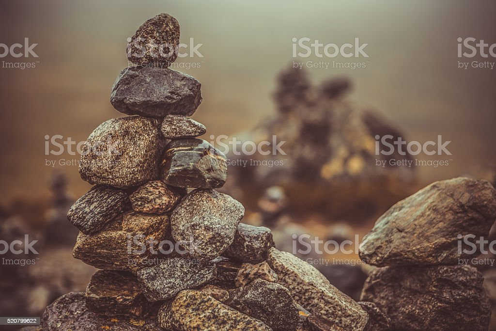 Stack of Rocks also known as Cairn stock photo