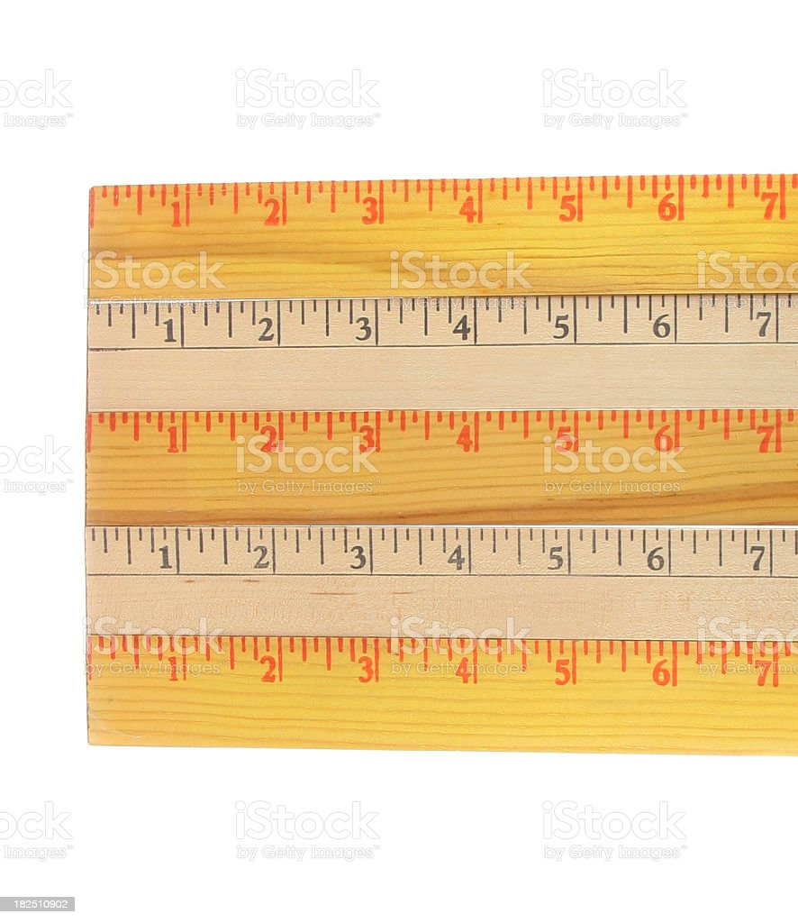 Stack of Rulers stock photo