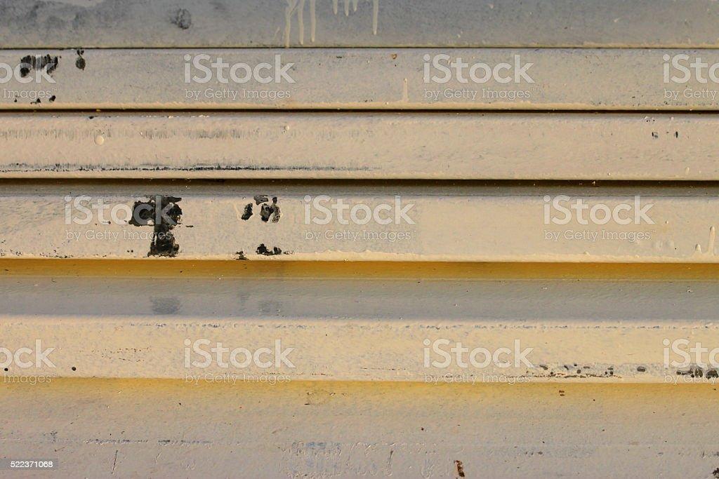 stack of rustproof painted metal steel stock photo