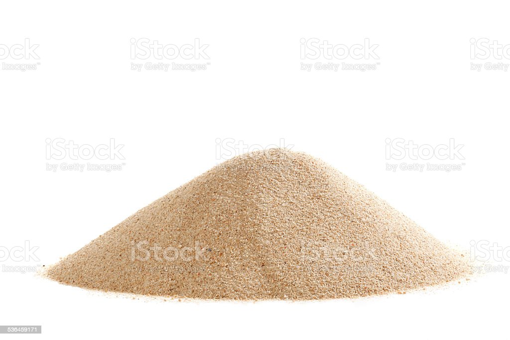 Stack of sand stock photo