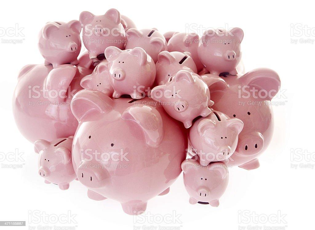 Stack of Savings royalty-free stock photo