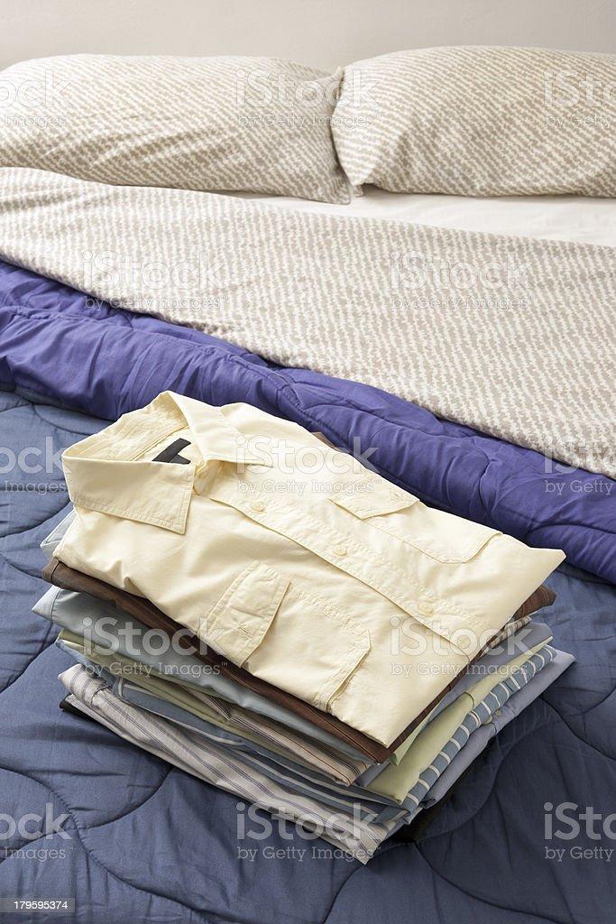 Stack of shirts royalty-free stock photo