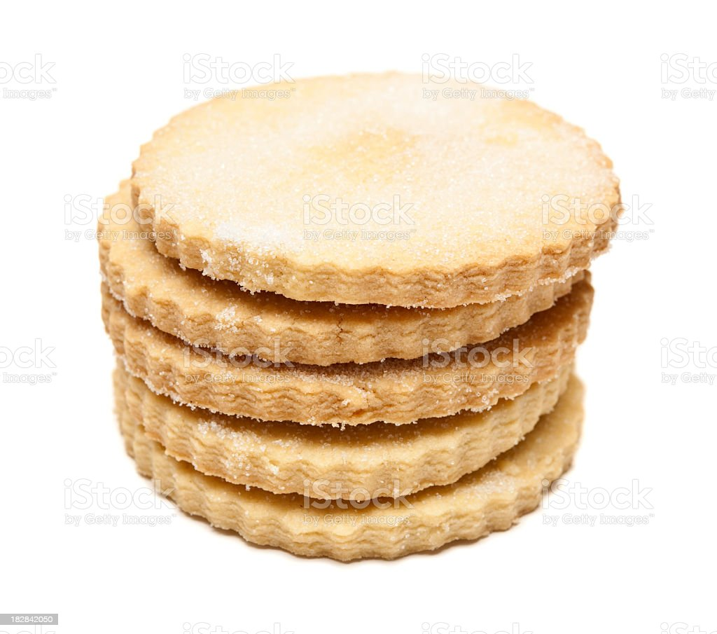 Stack of Shortbread biscuits royalty-free stock photo