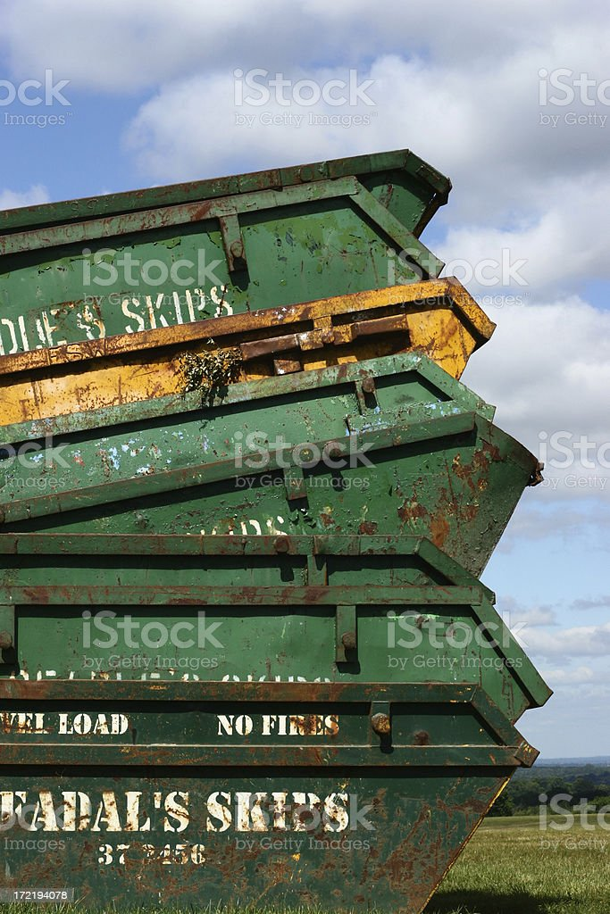 Stack of Skips royalty-free stock photo