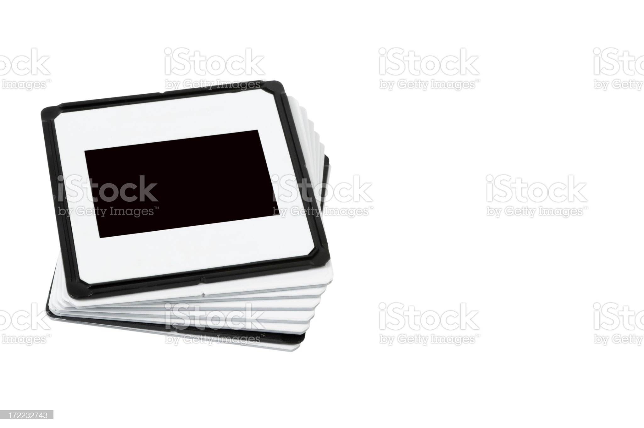 Stack of slides royalty-free stock photo