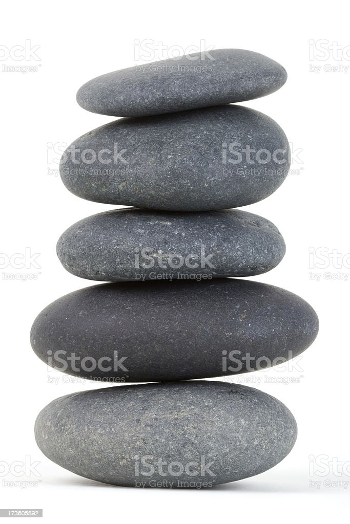 Stack of smooth stones royalty-free stock photo