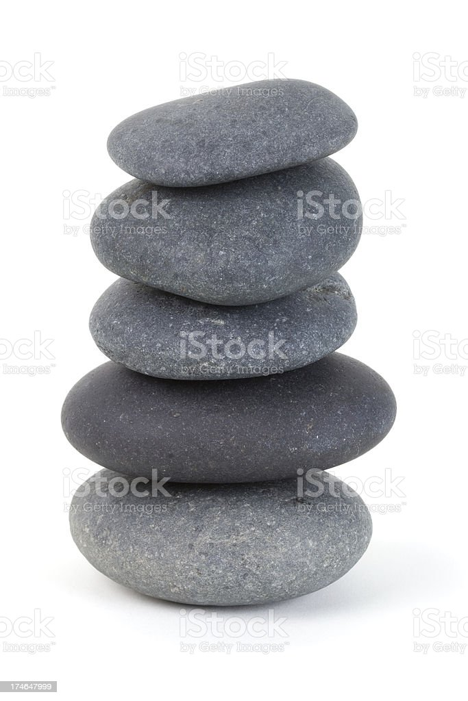 Stack of smooth stones stock photo