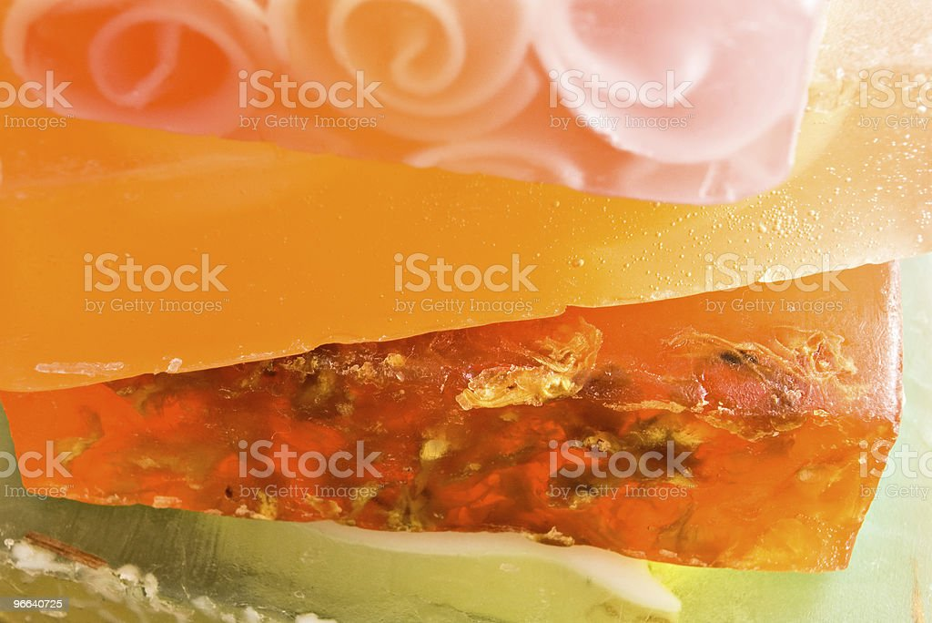 stack of soaps stock photo