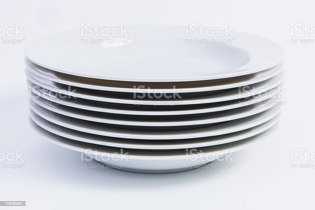 Stack of Soup Plates stock photo