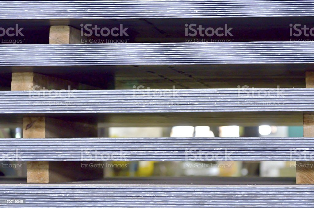 stack of steel plate stock photo