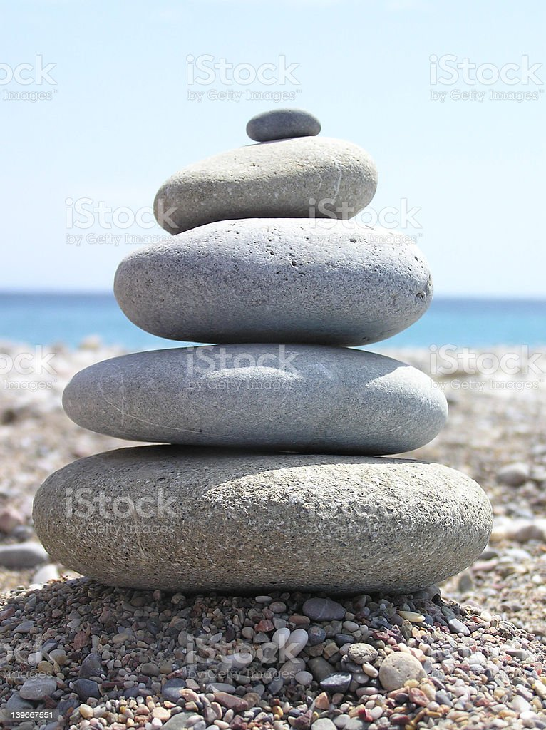 stack of stones royalty-free stock photo