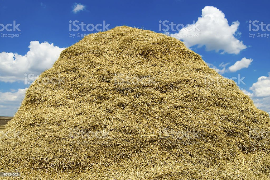 stack of straw royalty-free stock photo
