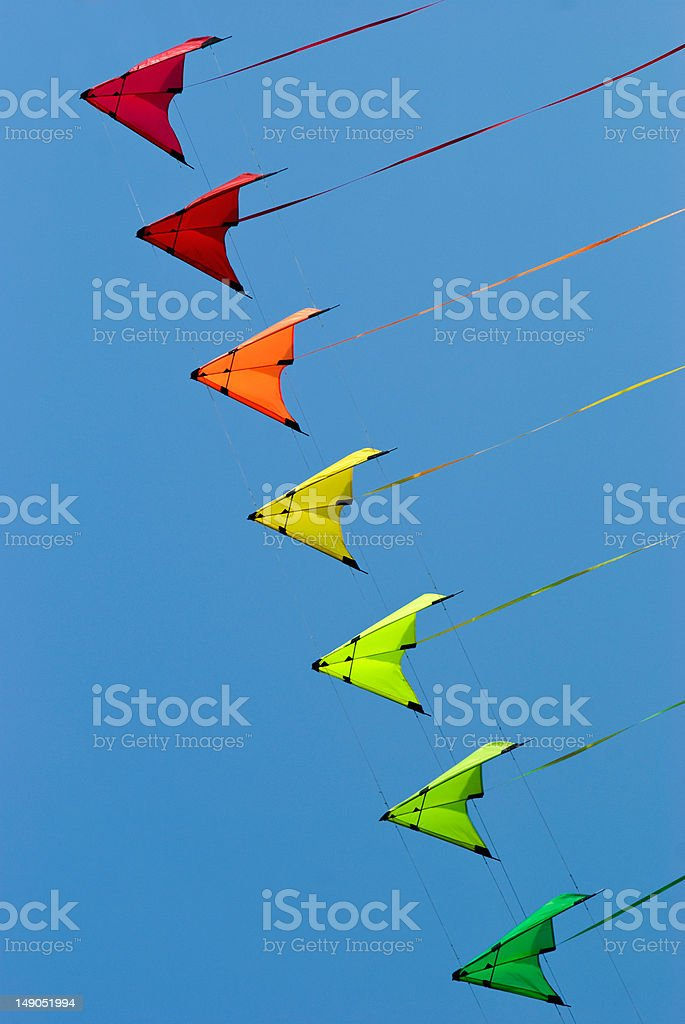 Stack of stunt kites royalty-free stock photo