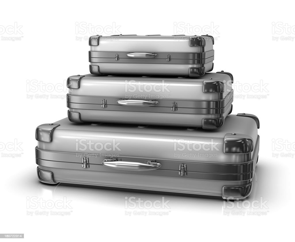 Stack of Suitcases stock photo