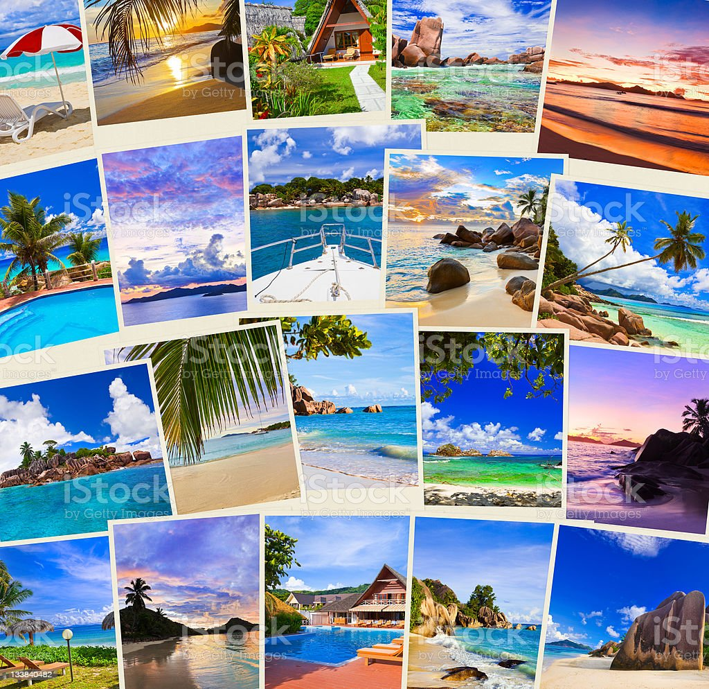 Stack of summer beach shots royalty-free stock photo