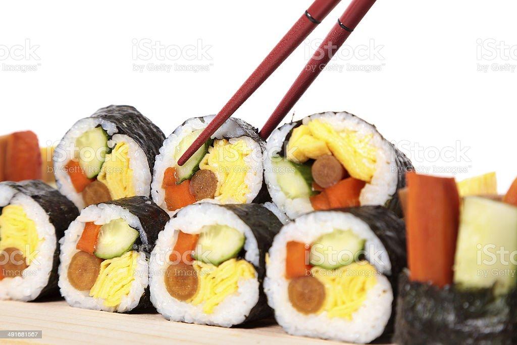 Stack of sushi stock photo