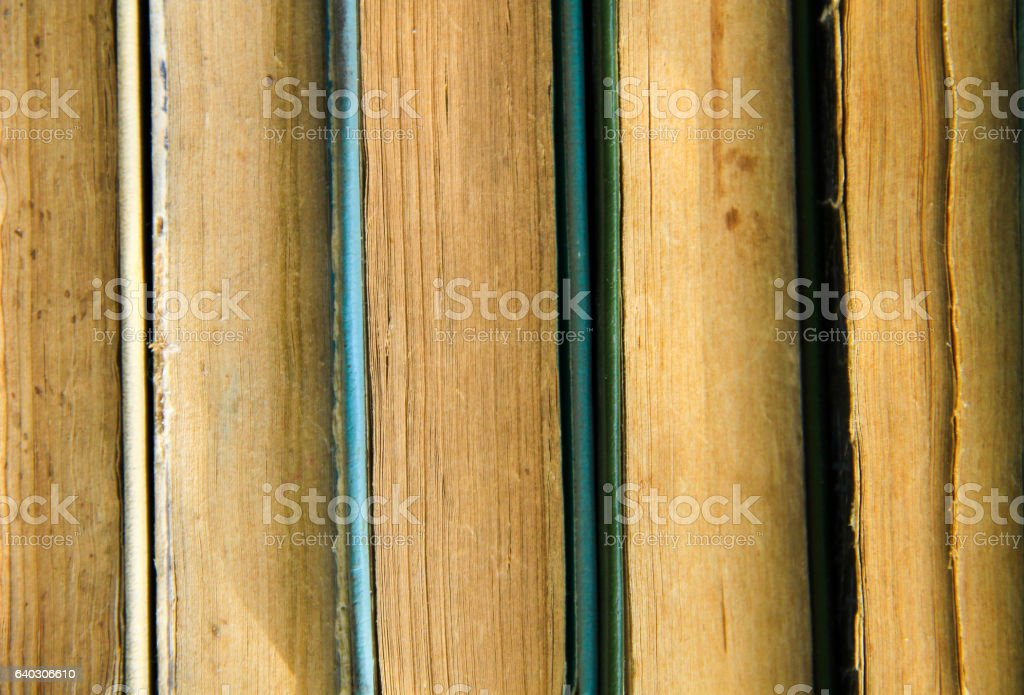Stack of the old books. Books background stock photo