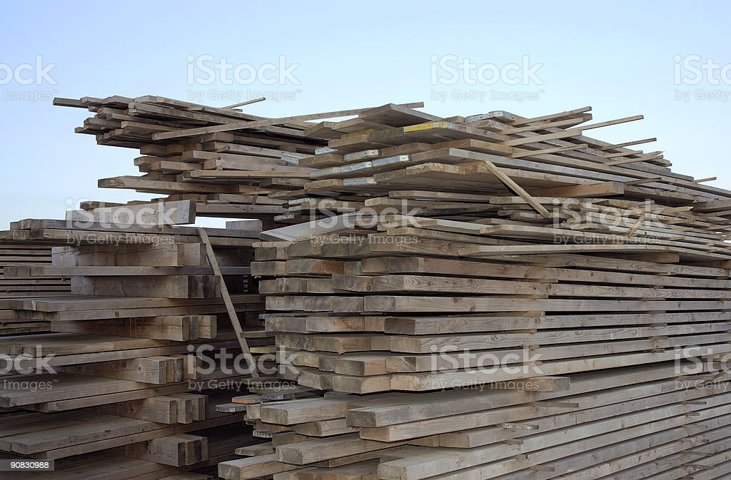 Stack of Timber. royalty-free stock photo