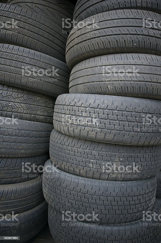 Stack of tires stock photo