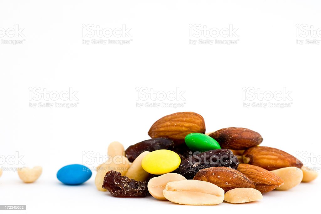 stack of trail mix stock photo