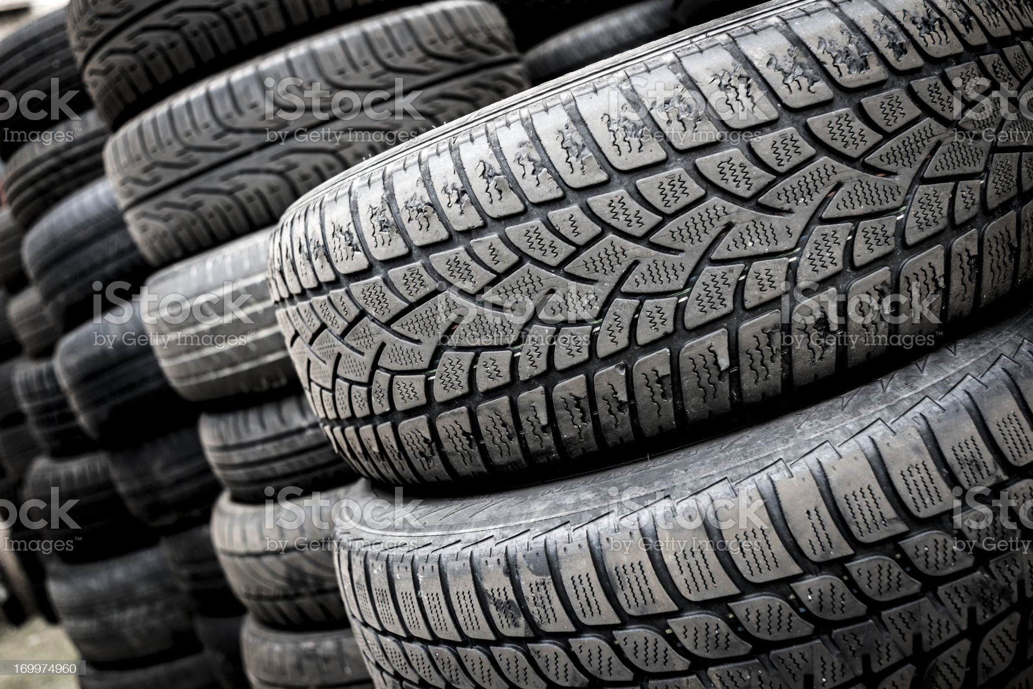Stack of tyres royalty-free stock photo