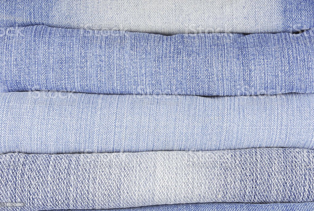 stack of various jeans royalty-free stock photo