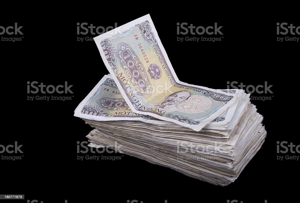 Stack of Vietnam Dong 2 royalty-free stock photo