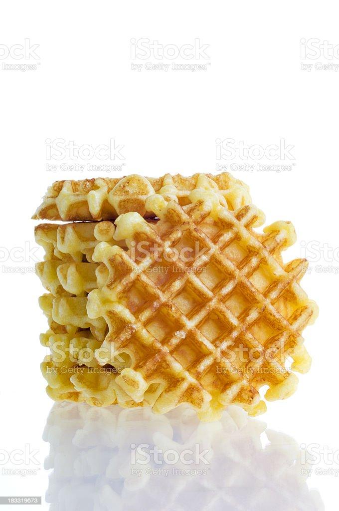 Stack of Waffles Isolated On White stock photo
