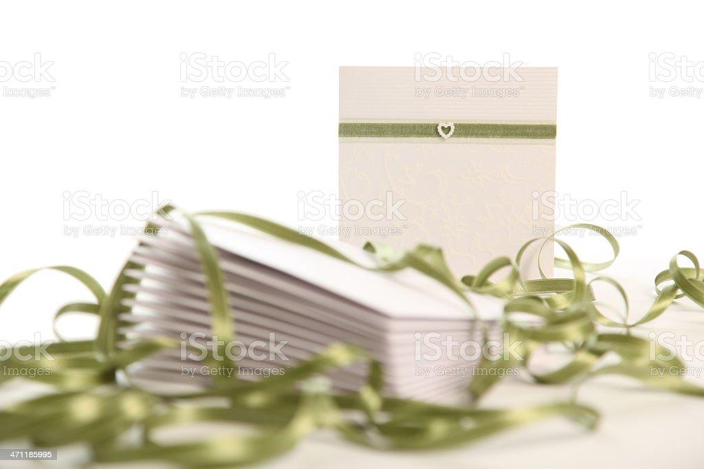 Stack of Wedding invites stock photo
