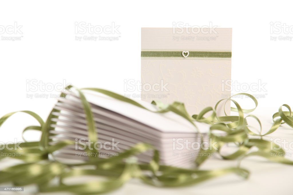 Stack of Wedding invites stock photo