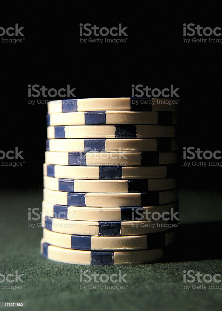 Stack of White Chips royalty-free stock photo