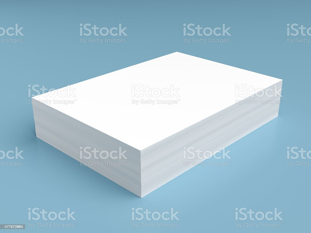 Stack of white paper stock photo