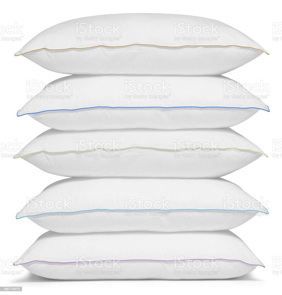 Stack of white pillows. royalty-free stock photo