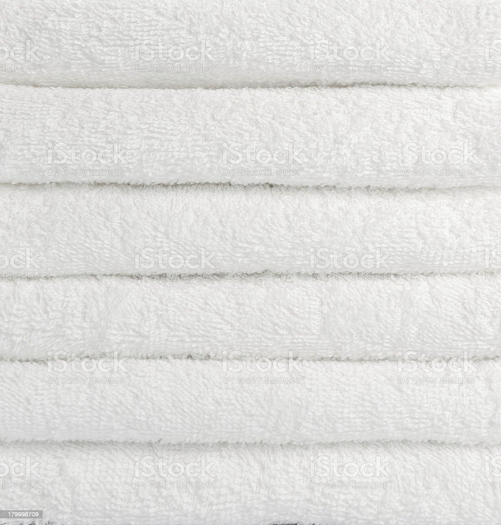 stack of white towels royalty-free stock photo