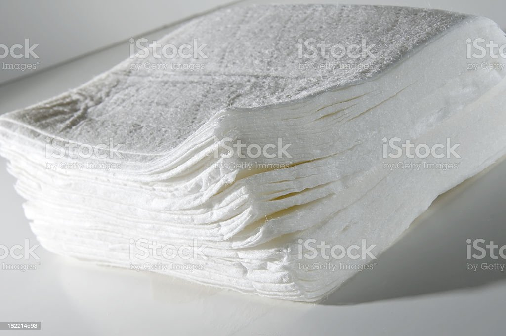 Stack of Wipes royalty-free stock photo