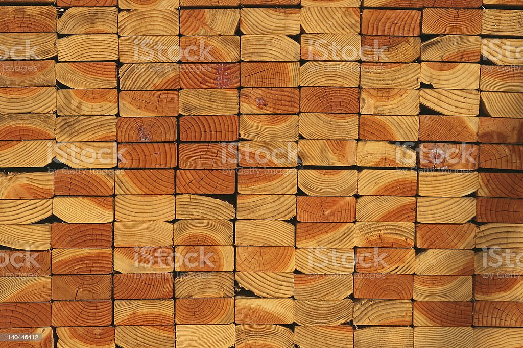 Stack of Wood 2x4's stock photo