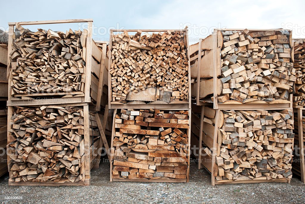 Stack of wood (Click for more) stock photo