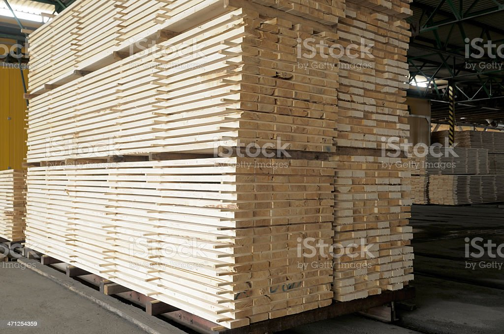 Stack of wood planks. royalty-free stock photo