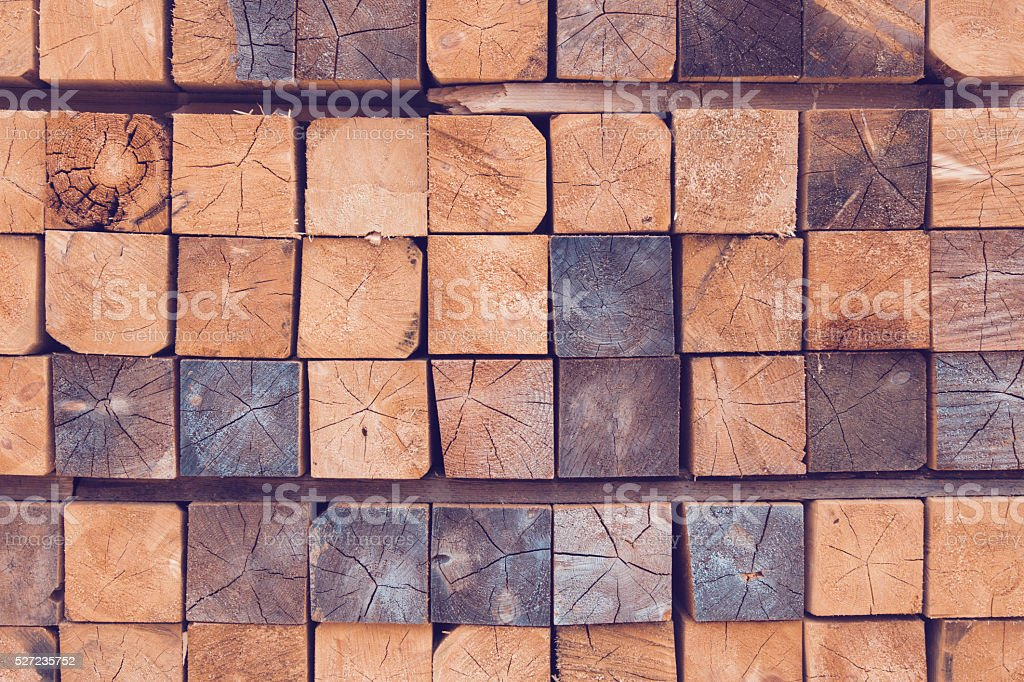 Stack of wooden bars stock photo