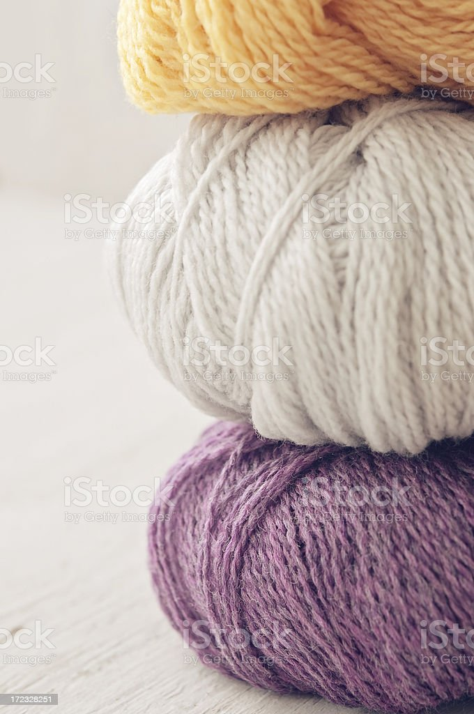 Stack of Yarn royalty-free stock photo