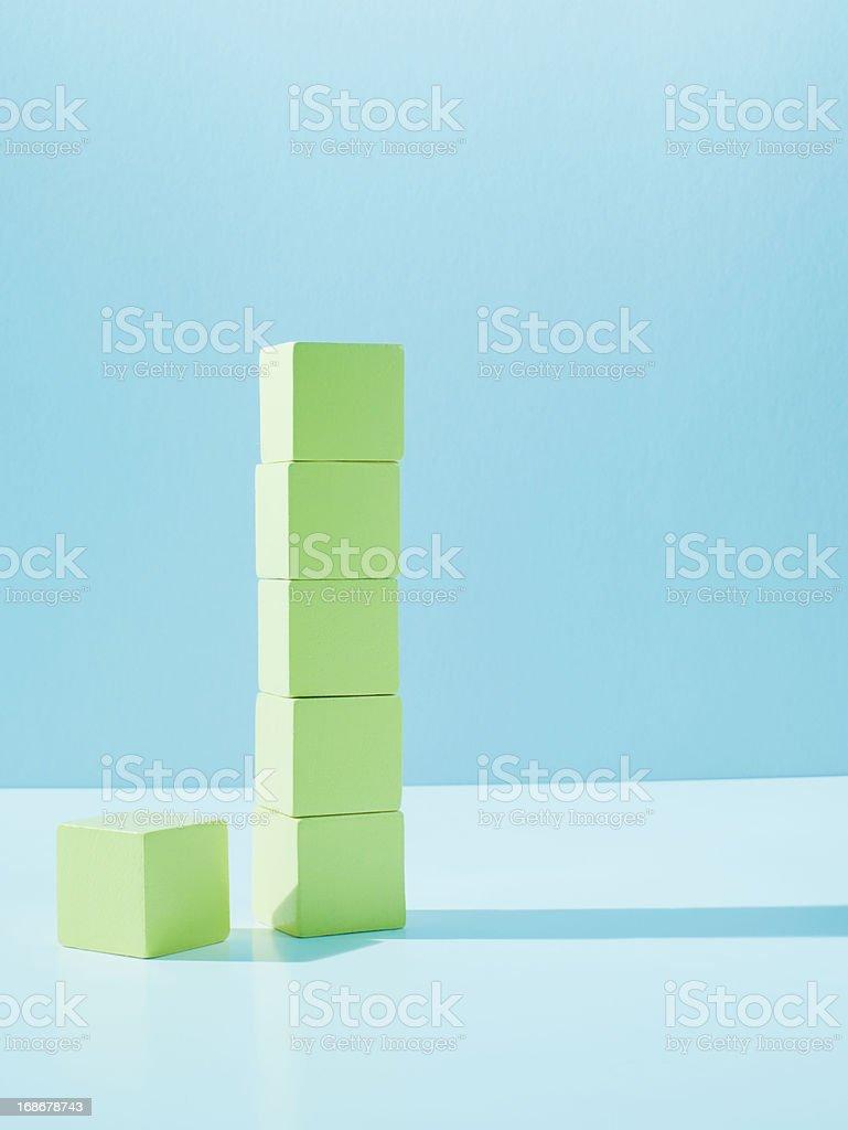 Stack of yellow blocks royalty-free stock photo