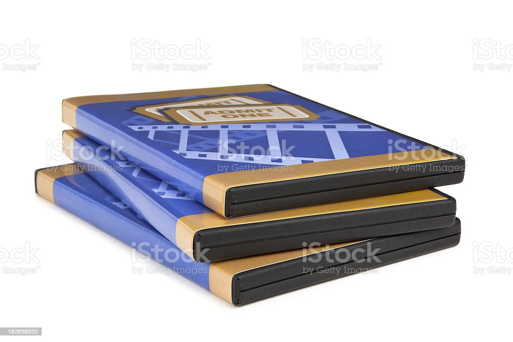 DVD Stack stock photo
