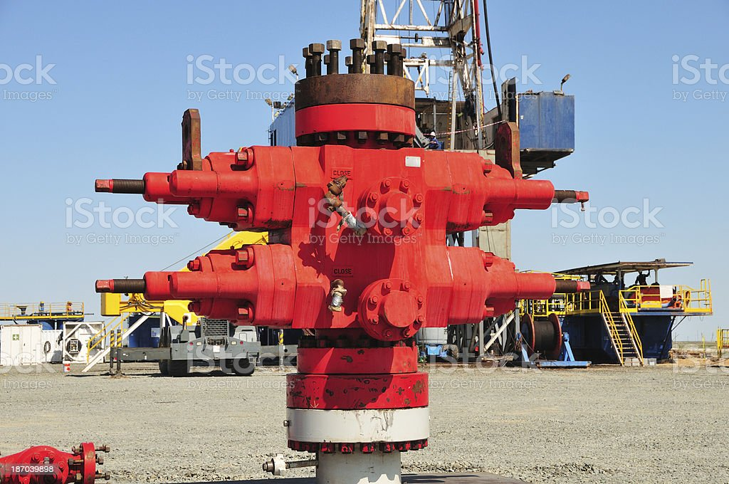 BOP (Blowout Preventor) Stack royalty-free stock photo